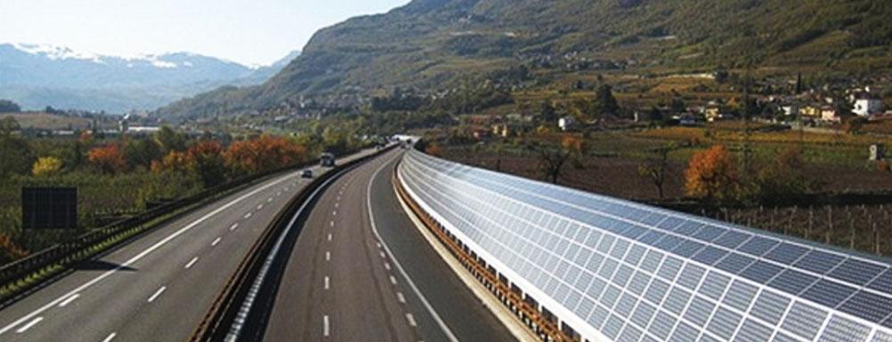 solar panels barricade