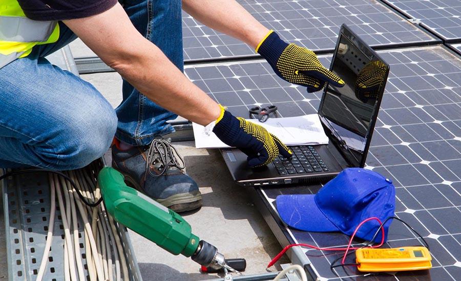repair of solar power installation
