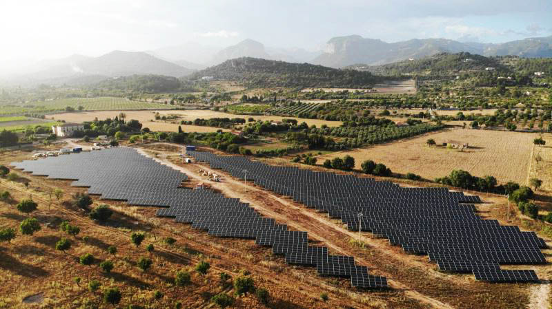 New Solar Power Park in the Balearics